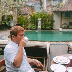 バリ島ウブドでホテルの朝食♪